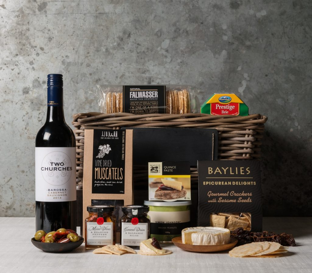 Cheese and Wine Gift Basket